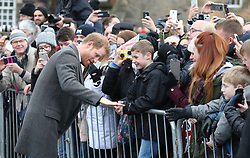Prince Harry during a walkabout on the esplanade at Edinburgh Castle, during their visit to Scotland.