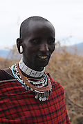Africa, Tanzania, Maasai tribe an ethnic group of semi-nomadic people.