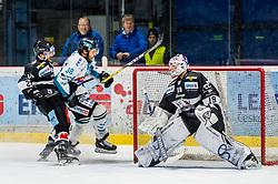 01.01.2019, Ice Rink, Znojmo, CZE, EBEL, HC Orli Znojmo vs EHC Liwest Black Wings Linz, 34. Runde, im Bild v.l. Michal Kruckovych (HC Orli Znojmo) Bracken Kearns (EHC Liwest Black Wings Linz) Teemu Tapio Lassila (HC Orli Znojmo) // during the Erste Bank Eishockey League 34th round match between HC Orli Znojmo and EHC Liwest Black Wings Linz at the Ice Rink in Znojmo, Czechia on 2019/01/01. EXPA Pictures © 2019, PhotoCredit: EXPA/ Rostislav Pfeffer