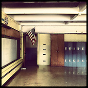 John J Pershing Elementary Humanities Magnet, 3113 S Rhodes Ave in Douglas. Opened 1958, closed 2013 Known as Pershing East, the school remains open in name and was consolidated into the Pershing West Middle School building.  Photographed Monday, Aug. 26, 2013 with an iPhone and the Instagram filter Brannan. (Brian Cassella/Chicago Tribune) B583150507Z.1 <br /> ....OUTSIDE TRIBUNE CO.- NO MAGS,  NO SALES, NO INTERNET, NO TV, CHICAGO OUT, NO DIGITAL MANIPULATION...
