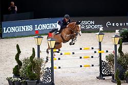BOST Roger Yves (FRA), Sangria du Coty<br /> Paris - FEI World Cup Finals 2018<br /> Longines FEI World Cup Jumping Final II<br /> www.sportfotos-lafrentz.de/Stefan Lafrentz<br /> 13. April 2018