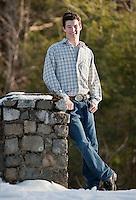 Tanner Howe senior portrait session  January 30, 2012.