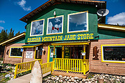 Cassiar Mountain Jade Store, Jade City, British Columbia, Canada. The scenic Stewart–Cassiar Highway (Highway 37, aka Dease Lake Highway or Stikine Highway) is the northwesternmost highway in BC. To license this Copyright photo, please inquire at PhotoSeek.com.