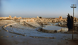 (170729) -- ALEPPO (SYRIA), July 29, 2017 (Xinhua) -- Photo taken on July 28, 2017 shows a view of the ancient citadel of Aleppo, Syria. The rebels had stayed in the east of Aleppo for five years before they evacuated in December of 2016. Seven months after the Syrian army took full control over the city, life starts to beat again through devastation and destruction in the area. (Xinhua/Ammar Safarjalani) (zjy) (Photo by Xinhua/Sipa USA)