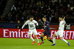 January 27, 2019 - Paris, Ile de France, France - Paris Saint Germain Midfield ANGEL DI MARIA in action during the French championship League 1 Conforama match Paris Saint Germain against Rennes at the Parc des Princes Stadium in Paris - France..Paris SG won 4-1 (Credit Image: © Pierre Stevenin/ZUMA Wire)