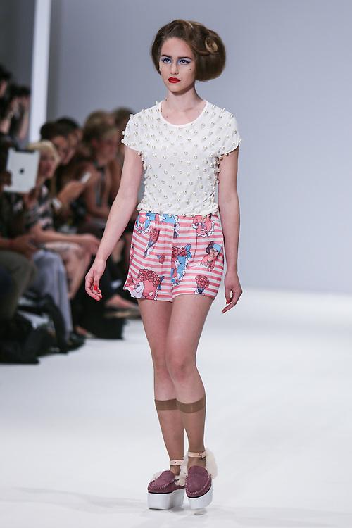 Fam Irvoll show during London Fashion Week, Spring/Summer 2013