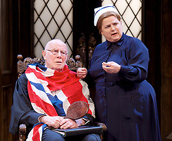 Forty Years On <br /> by Alan Bennett <br /> at Festival Theatre Chichester , Great Britain <br /> press photocall <br /> 25th April 2017 <br /> <br /> Richard Wilson as Headmaster <br /> Jenny Galloway as Matron <br /> <br /> <br /> <br /> <br /> Photograph by Elliott Franks <br /> Image licensed to Elliott Franks Photography Services