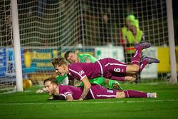 Arbroath's Steven Doris cele scoring their second goal. Arbroath 2 v 0 Montrose, Scottish Football League Division One played 10/11/2018 at Arbroath's home ground, Gayfield Park.