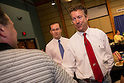US Senator Rand Paul greets supporters at a Republican Party BBQ fundraiser on June 28, 2013 in Columbia, South Carolina. Paul, a Tea Party favorite, is planning to run for president in 2016.
