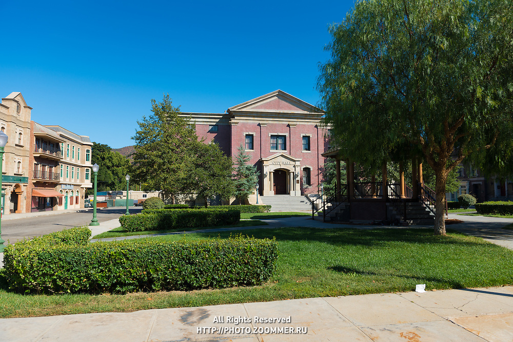 Back To The Future Cityhall In Universal Studios Theme Park, Los Angeles, California