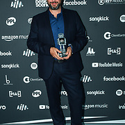 Charles Caldas receive awards at AIM Independent Music Awards at the Roundhouse on 3 September 2019, Camden Town, London, UK.