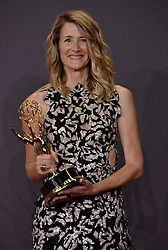 Actor Laura Dern, winner of the Outstanding Supporting Actress in a Limited Series or Movie award for 'Big Little Lies,' poses in the press room during the 69th Annual Primetime Emmy Awards held at the Microsoft Theater on September 17, 2017 in Los Angeles, CA, USA (Photo by Sthanlee B. Mirador/Sipa USA)