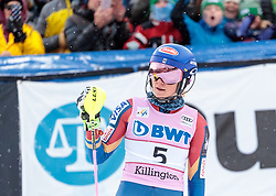 26.11.2017, Killington, USA, FIS Weltcup Ski Alpin, Killington, Slalom, Damen, 2. Lauf, im Bild Mikaela Shiffrin (USA, 1. Platz) // winner Mikaela Shiffrin of the USA in cation reacts after her 2nd run of ladie's Slalom of FIS ski alpine world cup in Killington, United Staates on 2017/11/26. EXPA Pictures © 2017, PhotoCredit: EXPA/ Johann Groder