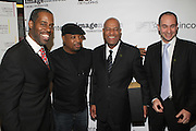 l to r: Greg Gates, Chuck D, Noel Hankin and Guest at The ImageNation celebration for the 20th Anniversary of ' Do the Right Thing' held Lincoln Center Walter Reade Theater on February 26, 2009 in New York City. ..Founded in 1997 by Moikgantsi Kgama, who shares executive duties with her husband, Event Producer Gregory Gates, ImageNation distinguishes itself by screening works that highlight and empower people from the African Diaspora.