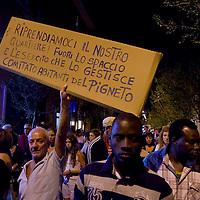 Manifestazione contro lo spaccio di droga  al Pigneto
