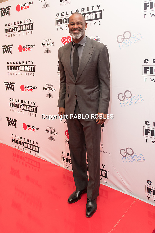 Brian McKnight attend the Celebrity Fight Night event on March 23, 2019 in Scottsdale, AZ