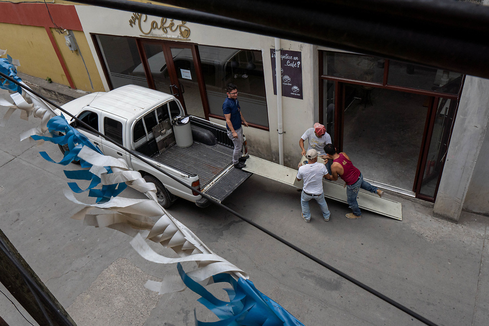 The biomedical team dismantles an x-ray machine to be transported and stored in another location in Cucuyagua, Honduras on Friday, March 6, 2020.     Photo by Ken Cedeno