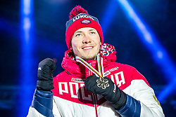 22.02.2019, Medal Plaza, Seefeld, AUT, FIS Weltmeisterschaften Ski Nordisch, Seefeld 2019, Langlauf, Herren, Sprint, Siegerehrung, im Bild Bronzemedaillengewinner Gleb Retivykh (RUS) // medalist Gleb Retivykh of Russian Federation during the winner Ceremony for the Cross Country, men's Sprint of FIS Nordic Ski World Championships 2019 at the Medal Plaza in Seefeld, Austria on 2019/02/22. EXPA Pictures © 2019, PhotoCredit: EXPA/ Dominik Angerer