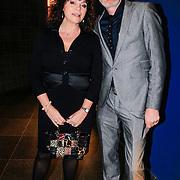 NLD/Haarlem/20130131 - Inloop Premiere Terug naar de Kust, Henriette Tol en partner Rob Snoek