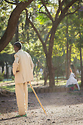 Man in suit at St Mary of Zion Church, Axum. Tigray Region. Ethiopia, Horn of Africa