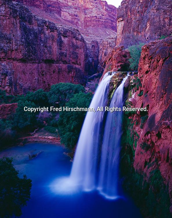 Havasu Falls, Havasu Canyon of the Grand Canyon, Havasupai Reservation, Arizona.