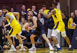 Mar 20, 2019; Morgantown, WV, USA; Grand Canyon Antelopes forward Matt Jackson (5) rebounds a ball during the first half against the West Virginia Mountaineers at WVU Coliseum. Mandatory Credit: Ben Queen