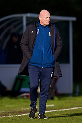 BLACKBURN, ENGLAND - Saturday, January 6, 2018: Blackburn Rovers' Professional Development Phase Assistant Coach Mike Sheron during an Under-18 FA Premier League match between Blackburn Rovers FC and Liverpool FC at Brockhall Village Training Ground. (Pic by David Rawcliffe/Propaganda)