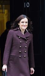Downing Street, London, March 8th 2016. Northern Ireland Secretary Theresa Villiers leaves 10 Downing Street following the weekly UK cabinet meeting. ©Paul Davey<br /> FOR LICENCING CONTACT: Paul Davey +44 (0) 7966 016 296 paul@pauldaveycreative.co.uk
