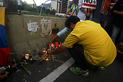 June 21, 2017 - Caracas, Capital District, Venezuela - Venezuelan opposition calls for a march to protest the violence this June 21, 2017 in Caracas, Venezuela. Opposition protesters marched on the death of Fabian Urbina, a 17-year-old man killed by a bullet hit on Monday, June 19, in a protest against Nicolás Maduro's government. (Credit Image: © Adrian Manzol via ZUMA Wire)