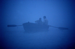 The Ganges river is shown in the early morning fog December 10, 2001 in Varanasi, India.  The late George Harrison, a longtime devotee of Hinduism, reportedly left over a million dollars to build a temple in the holy city of Varanasi  according to Hare Krishna devotees. The news came as hundreds of Harrison fans still waited expectantly by the banks of the River Ganges for his ashes to arrive, amid confusion on how they were to be scattered. (Ami Vitale/Getty Images)