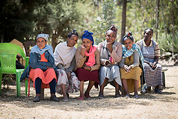 31 January 2019, Southern Nations, Nationalities, and Peoples' Region, Ethiopia: Members of the Tesfa ('hope') self-help group for women, which undertakes community banking to raise women's economic status and independence. Through the Mekane Yesus Food Security Project for Lemo Community, the Ethiopian Evangelical Church Mekane Yesus' development wing Development and Social Services Commission helps women raise their socio-economic status through community banking efforts and education, and helps improve communities' food security through training in agricultural methods suitable in a changing climate.