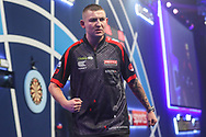 Nathan Aspinall during the PDC William Hill World Darts Championship at Alexandra Palace, London, United Kingdom on 20 December 2019.