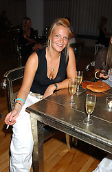 The HON.TANIA HAMILTON-SMITH daughter of Lord Colwyn at the launch of Friday Nights at Mamilanji - Chelsea's newest and most exclusive members club, 107 Kings Road, London SW3 hosted by Charlie Gilkes and Duncan Stirling held on 29th July 2005.<br /><br />NON EXCLUSIVE - WORLD RIGHTS