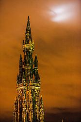 Scott Monument.<br /> Edinburgh's Hogmanay 2013.