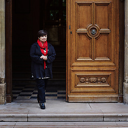 PARIS, FRANCE. SEPTEMBER 12, 2013. Ana Soto at the  entrance of Ecole Normale Superieure. She's one of the leading researchers at Tufts School of Medicine and has been named to a Blaise Pascal Chair in France for the coming year. Photo: Antoine Doyen
