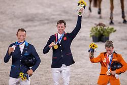 Maher Ben, GBR, Fredricson Peder, SWE, Van Der Vleuten Maikel, NED<br /> Olympic Games Tokyo 2021<br /> © Hippo Foto - Dirk Caremans<br /> 04/08/2021