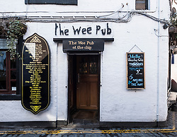 Exterior of the Wee Pub attached to The Ubiquitous Chip restaurant on Ashton Lane in Glasgow West End, Scotland, United Kingdom