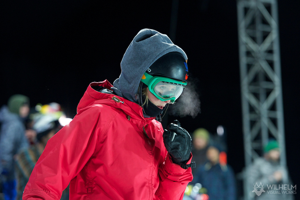 Ellery Hollingsworth during Women's Snowboard Superpipe Practice at the 2013 X Games Aspen at Buttermilk Mountain in Aspen, CO.  Brett Wilhelm/ESPN