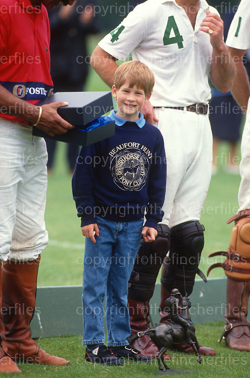 Prince Harry see at a polo match at the Cirencester Polo Club in 1991.Photograph by Jayne Fincher