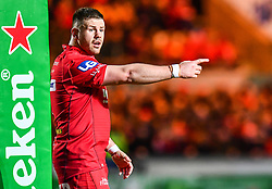 Scarlets' Rob Evans<br /> <br /> Photographer Craig Thomas/Replay Images<br /> <br /> European Rugby Champions Cup Round 5 - Scarlets v Toulon - Saturday 20th January 2018 - Parc Y Scarlets - Llanelli<br /> <br /> World Copyright © Replay Images . All rights reserved. info@replayimages.co.uk - http://replayimages.co.uk