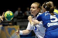 20111218: SAO PAULO, BRAZIL - Player Loke (NOR) and  Ayglon FRA)  at France vs Norway final match of the XX World Handball<br /> PHOTO: CITYFILES