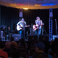 Folk singer/guitarist Dylan McManus & guitarist Mike Juda perform as the duo McManus & Juda, Saturday, June 8 at the Gallup Downtown Conference Center during the third annual Doin' Dylan: Gallup's Bob Dylan Tribute Concert.