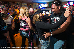 The Swamp Juice Band performed and everyone danced in Sopotniks Cabbage Patch Bar during the Wednesday festivities. Daytona Bike Week. FL, USA. March 12, 2014.  Photography ©2014 Michael Lichter.