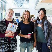28/08/2015             <br /> Pharmaceutical Manufacturing Technology Centre (PMTC) Knowledge day at the Kemmy Business School, University of Limerick.    <br />  Pictured at the event were, Claire Heffernan, UL, Katalin Bodmar, UL and Raquel Arribas, UL. Picture: Alan Place