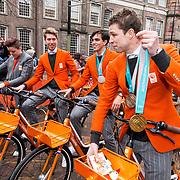 NLD/Den Haag/20180323 - Huldiging Olympische en Paralympische medaillewinnaars, Jorien Ter Mors, Jorrit Bergsma, Patrick Roest, Sven Kramer