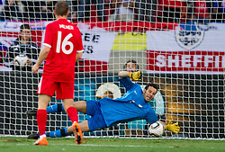Goalkeeper of Slovenia Samir Handanovic during the 2010 FIFA World Cup South Africa Group C Third Round match between Slovenia and England on June 23, 2010 at Nelson Mandela Bay Stadium, Port Elizabeth, South Africa.  (Photo by Vid Ponikvar / Sportida)