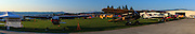 Panorama of the Hood River Fly-In.