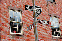 beekman and water st signs in lower manhattan in New York City October 2008