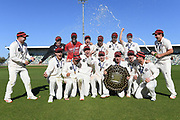 Canterbury players with the Plunket Shield following the match Central Districts v Canterbury, McLean Park, Napier, Tuesday, April 06, 2021. Copyright photo: Kerry Marshall / www.photosport.nz