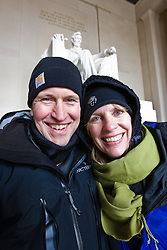 Sean and Karen Fitzgerald at Lincoln Memorial, Washington D.C., USA.